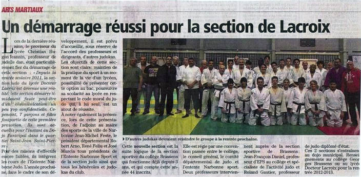 Vignette article judo